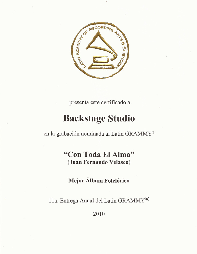 Latin Grammy Nomination